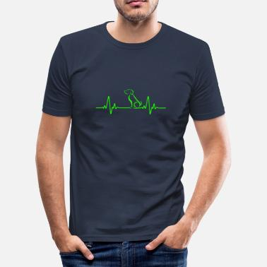 Beat HEART BEAT - Männer Slim Fit T-Shirt