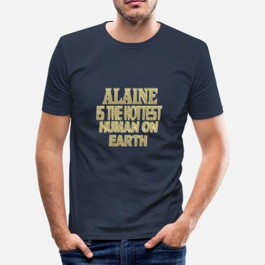 Alain Alaine - Slim Fit T-skjorte for menn