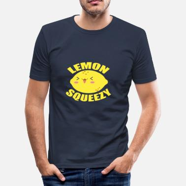 Lemon LEMON SQUEEZY - Citroner er GEIL - Herre Slim Fit T-Shirt