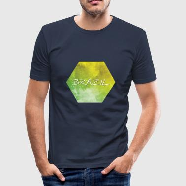 Brasil - Brasil - Slim Fit T-skjorte for menn