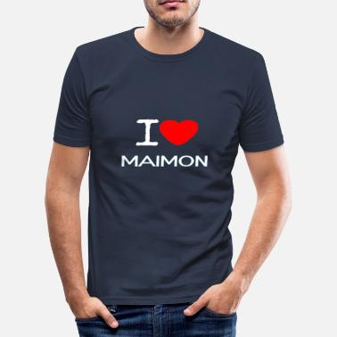 Mellemamerika I LOVE Maimon - Herre Slim Fit T-Shirt
