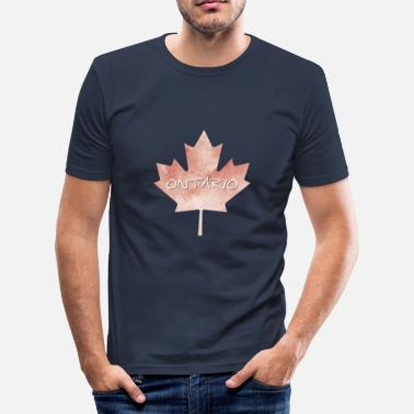 Ontario Ontario Maple Leaf - Slim Fit T-skjorte for menn