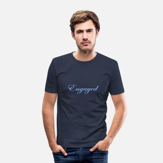 Verlobung T-Shirts - verlobt - Männer Slim Fit T-Shirt Navy
