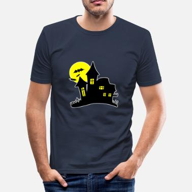 Full House Halloween Haunted House Haunted House - Men's Slim Fit T-Shirt