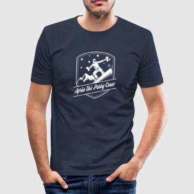 Apres Ski partiet Crew - Slim Fit T-skjorte for menn