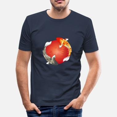 Carpe Poisson koi | carpe koi | poisson | poisson | étang de la carpe - T-shirt moulant Homme