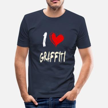 Graffiti Heart I Love Graffiti - Slim Fit T-skjorte for menn