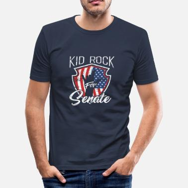 Kids American Kid for US Senate Rock Election American 2018 - Men's Slim Fit T-Shirt