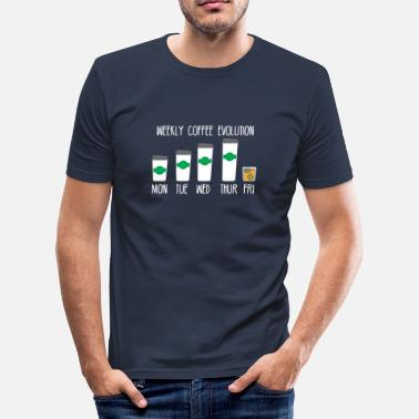 Coffee Coffee - Evolution - Whiskey - Funny - Gift - Men's Slim Fit T-Shirt