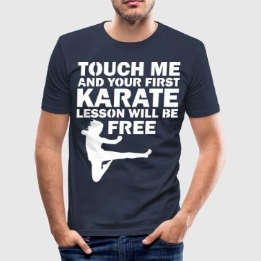 Ww1 Tag fat i mig og din karate time er gratis - Herre Slim Fit T-Shirt