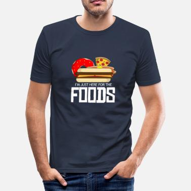 Cheeseburger Pizza Cheeseburger Donut Pancakes - Männer Slim Fit T-Shirt