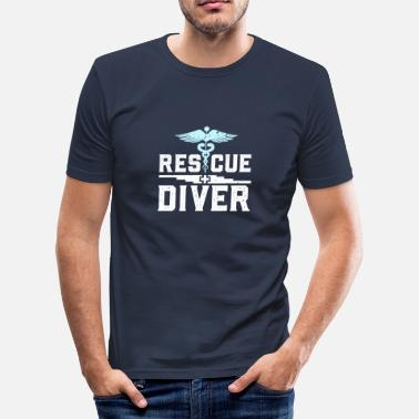 Navy Diver Rescue Diver - Men's Slim Fit T-Shirt