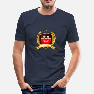 Champions Alkohol Beer Pong Champion - Männer Slim Fit T-Shirt
