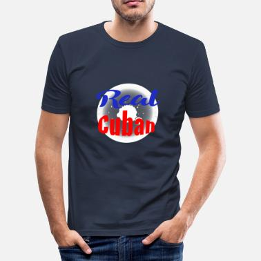 Cubansk Real cubanske - Slim Fit T-skjorte for menn