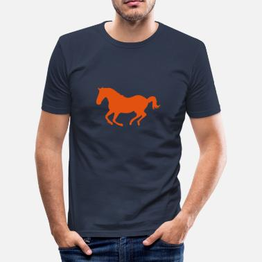 Galopp Pferd Pony Galopp - Männer Slim Fit T-Shirt