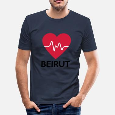 Beirut heart Beirut - Men's Slim Fit T-Shirt