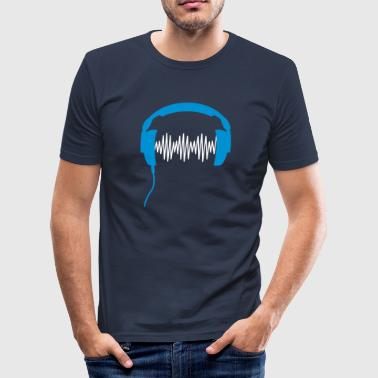 Headphone DJ club music sound turntable Party Sound Beat - Men's Slim Fit T-Shirt