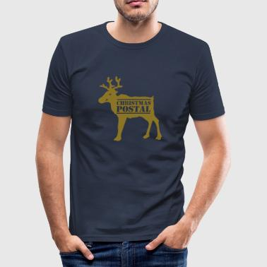 Christmas postal - Men's Slim Fit T-Shirt