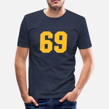 Number 69 69 - Men's Slim Fit T-Shirt