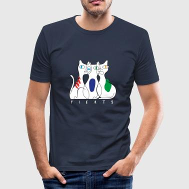 three cats - Men's Slim Fit T-Shirt