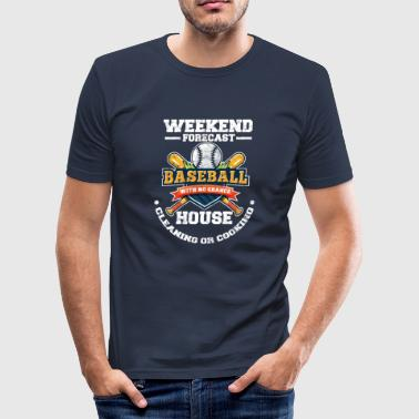 Baseball mother time in the square instead of household - Men's Slim Fit T-Shirt