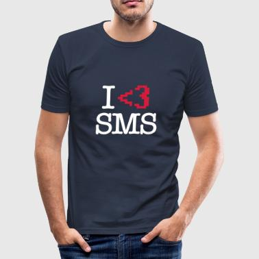 Citations Sms I Love SMS (Blanc) - T-shirt près du corps Homme
