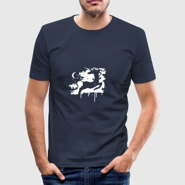 The unicorn and the moon - Men's Slim Fit T-Shirt
