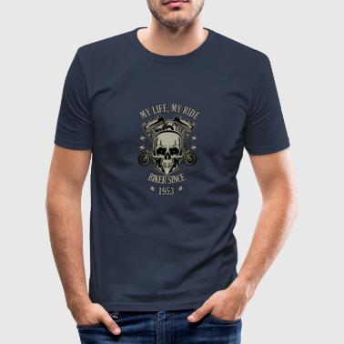 1953 Year Gift for Biker - Year 1953 - Men's Slim Fit T-Shirt