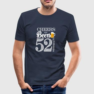 Cheers en Bieren tot 52 jaar - slim fit T-shirt