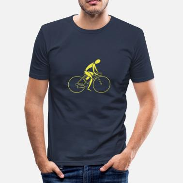 Bike Racer Bike Racer; Outline Logo - Men's Slim Fit T-Shirt