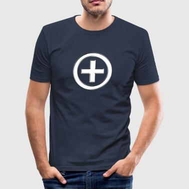 POSITIVE!  Energy Symbol, silver, digital, symbol, symbols, powerful, sign, icon - Slim Fit T-shirt herr