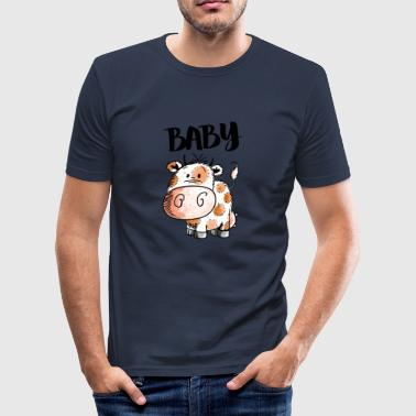 Baby cow - cows - calf - calf - cattle - animal - Men's Slim Fit T-Shirt