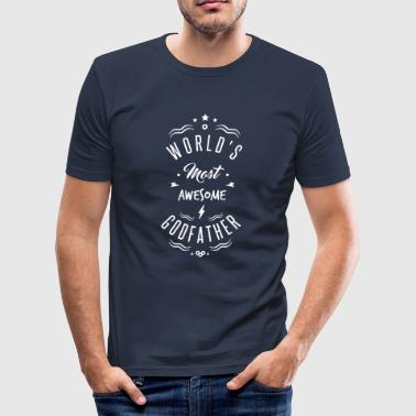 AWESOME GODFATHER - Slim Fit T-shirt herr
