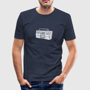 Ghettoblaster Radio Stereo Sound Bass Music Musik - Tee shirt près du corps Homme
