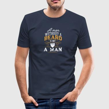 Beard Man Man with beard / beard - Men's Slim Fit T-Shirt