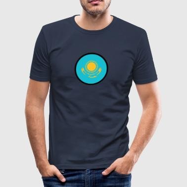 Under tecknet av Kazakstan - Slim Fit T-shirt herr