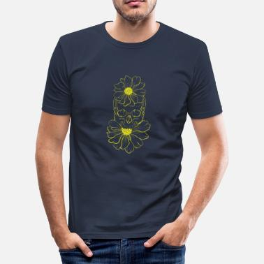 Cranium Cranium flowers - Men's Slim Fit T-Shirt