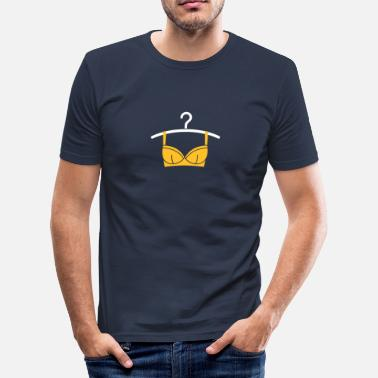 Erotic Pictogram Women's Lingerie On A Hanger - Men's Slim Fit T-Shirt