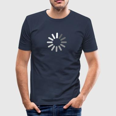 Loading bar, apple, circle, download, progress - Tee shirt près du corps Homme