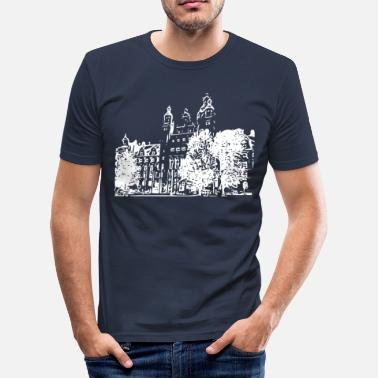 Town Hall Leipzig City Hall - Men's Slim Fit T-Shirt