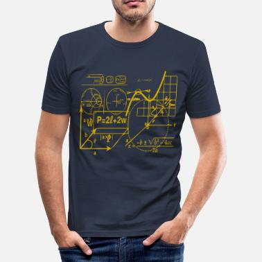 Diagrammer Formler og diagrammer - Slim Fit T-skjorte for menn