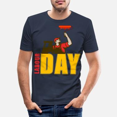Arbetarnas Dag INTERNATIONELL ARBETARE S DAG - T-shirt slim fit herr