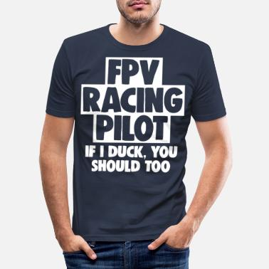 Modellflyg fpv racing pilot - T-shirt slim fit herr