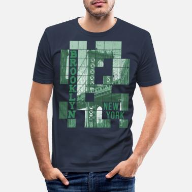 Ny Brooklyn New York - Men's Slim Fit T-Shirt
