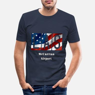 Vegas Las Vegas Airport - Men's Slim Fit T-Shirt