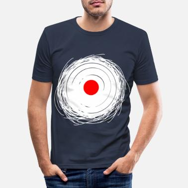 Vinyl Vinyl Record DJ Design Vinyl Record - Men's Slim Fit T-Shirt