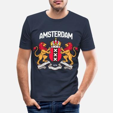 Holland Wapen van Amsterdam - Mannen slim fit T-shirt