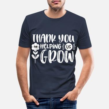 Us Thank You Helping Us Grow Gift Thank You Mom Dad - Men's Slim Fit T-Shirt
