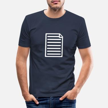Paper Paper - Men's Slim Fit T-Shirt