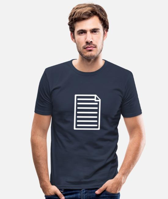 Symbol T-Shirts - Papier - Männer Slim Fit T-Shirt Navy